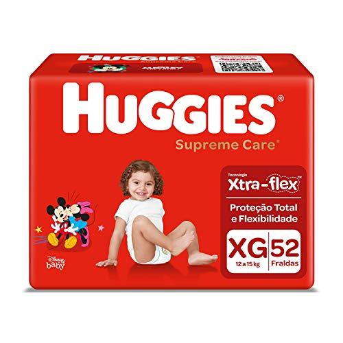 Huggies Fralda Supreme Care Hiper XG, 52 Fraldas