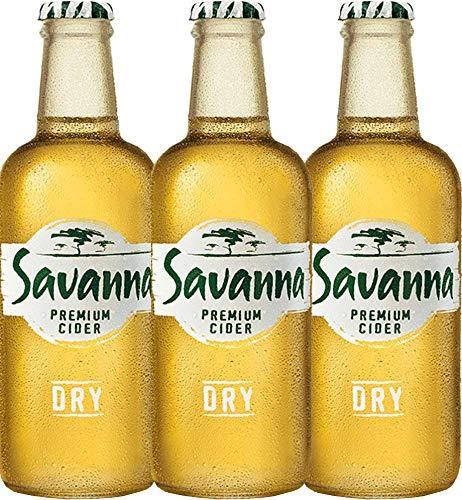 VINELLO 3er Cider-Paket - Savanna Premium Dry Cider | südafrikanischer Cidre | perfekt für den Sommer | 3 x 0,33 Liter