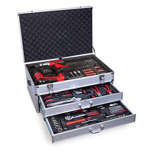 Werkzeugkasten Werkzeug Werkzeugkoffer Werkzeugkiste Profiwerkzeug Werkzeugschrank 206 tl mit Schubladen