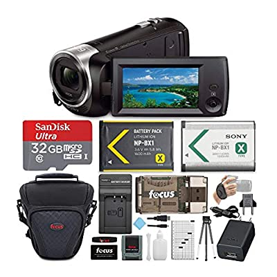 Sony CX405 Handycam 1080p Camcorder with 32GB SD Card and Accessory Bundle by Sony
