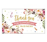 YKHENGTU Thank You for Supporting Small Business Cards, 3.5 x 2 Inches Sized, 100 Thank You Business Cards for Online, Retail Store, Handmade Goods, Customer Package Inserts and More