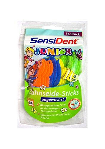 SensiDent Zahnseide für Kinder * STICKS ungewachst * kindgerecht 16 Stk. ab 6 J.
