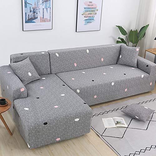 PPMP Fundas de sofá elásticas para Sala de Estar Sofá en Forma de L Necesita Comprar 2 Piezas Funda de sofá Funda de sofá de Esquina elástica Fundas A15 4 plazas