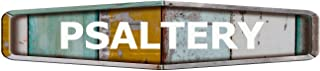 Psaltery Diamond Shaped Weathered Painted Wood Look Decal Bumper Sticker for use on Any Smooth Surface