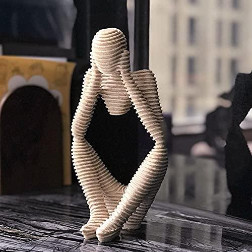FUFRE Escultura de jardín, estatua abstracta, figuras creativas de resina para amigos y amantes. Decoración de oficinas, mesas, salones, dormitorios, armarios, etc. (A)