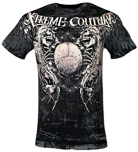 Xtreme Couture by Affliction Men T-Shirt MEGA Cross Biker Black MMA Gym S-5XL$40 (4XL)