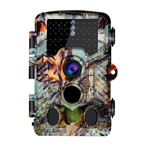 Icefox Wildkamera 20MP FHD Outdoor Wasserdichte Überwachungskamera für Wildtierjagd und Heimsicherheit