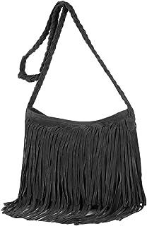 Rebecca Suede Fringe Tassel Crossbody Bag Women Hobo Shoulder Bags Handbag Purse
