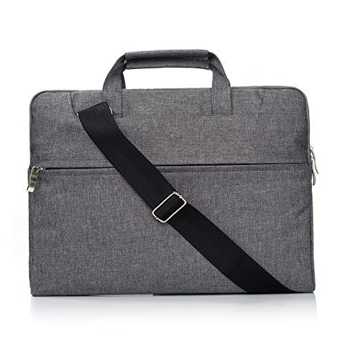 Borse per Notebook e Accessori Portatile Una Spalla Zipper Portatile Laptop Bag, for 11.6 Pollici e sotto MacBook, Samsung, Lenovo, Sony, dell Alienware, CHUWI, ASUS, HP (Nero) Ctj (Colore : Grey)