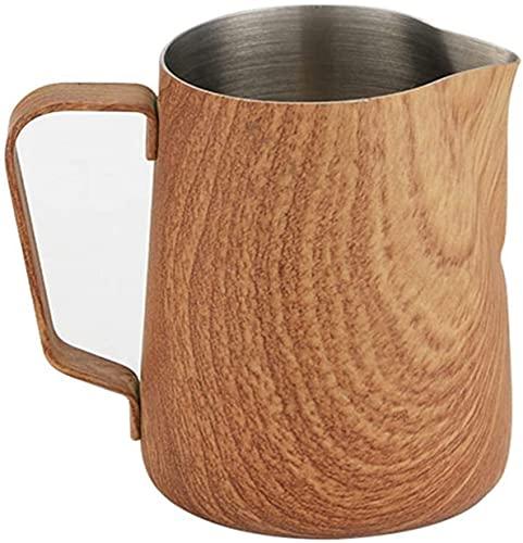 Ruixing Küchengeräte Milchkanne Edelstahl Creamer Schaumkugel Edelstahl Milch Schaum Pitcher Espresso Kaffee Handwerk Latte Cappuccino Milch Creme Tasse Schaumkugelkugel Espresso Dampfkugel