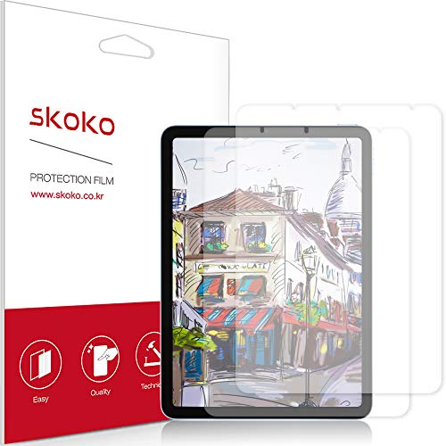 skoko [2 Pack] Paper-feel Screen Protector Compatible with iPad Air 4th Gen 2020, Paper Texture, Preamiun PET, for Writing/Draw, Compatible with Apple Pencil