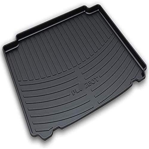 Coche Goma Alfombrillas para Peugeot 407 2011-2019 maletero, para Antideslizante Tapete La Bandeja del Piso Boot Liner Mat Accesorios De Interior