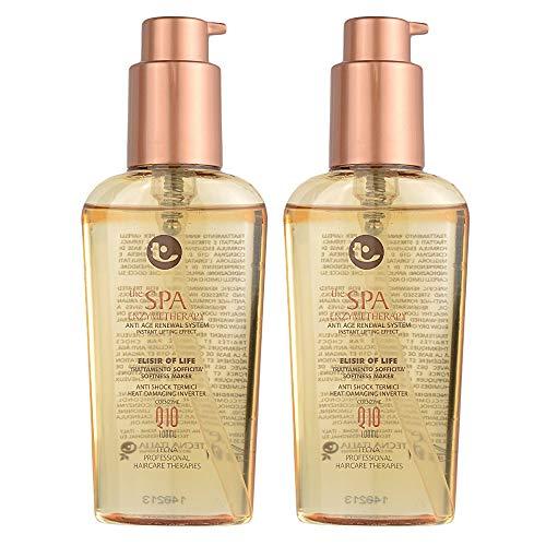 Tecna the spa enzymetherapy elisir of life DUO PACK 2 x 100 ml trattamento rinnovatore per capelli trattati chimicamente o bruciati con coenzima Q10 200ml PROMOZIONE SPEDIZIONE GRATUITA