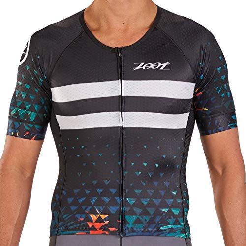 Zoot Herren Triathlon Aero Trikot Design Ali'I mit Ärmeln, reflektierenden Details und Vento-Mesh Textilien für Atmungsaktivität und Kompression Größe XL