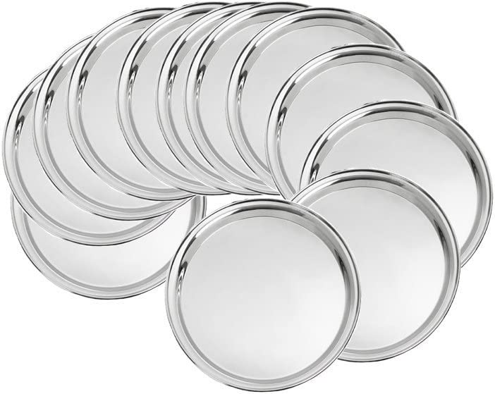 Royal Sapphire Limited price sale Stainless Steel Dinner Ca Sacramento Mall Plates