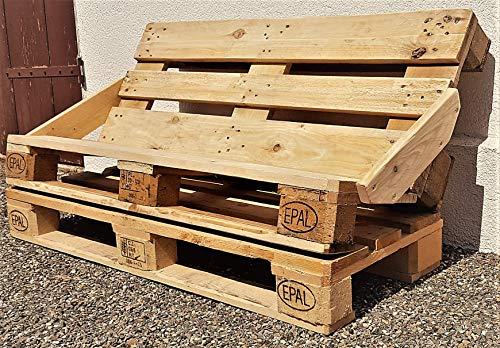 Bank aus Palette Sitzbank Chill- Sofa Lounge Holzbank vintage Gartenbank industrial Bank Shabby Chic Palettenbank antik Palettenmöbel altholz - 3