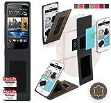 Hülle für HTC Desire 500 Tasche Cover Hülle Bumper | Braun Wildleder | Testsieger
