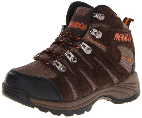 Nevados Kennesaw Mid V1206Y Boot (Toddler/Little kid/Big Kid),Dark Brown/Black/Orange,13 M US Little Kid