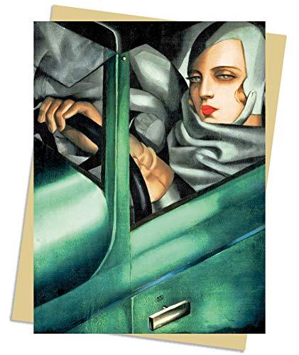 Tamara De Lempicka: Tamara in the Green Bugatti, 1929 Greeting Card: Pack of 6