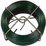 Connex FLOR78610 Fil de Fer avec Gaine Plastique Vert 1,4 mm x 50 m