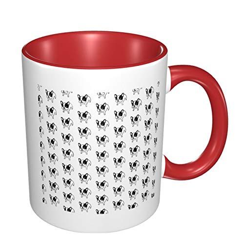 French Bulldog Dog Funny Coffee Tea Mug Personalised Mug Novelty Gift For Christmas Red