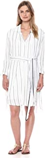 Halston Heritage Women's Long Sleeve Shirtdress with Smocked Cuffs
