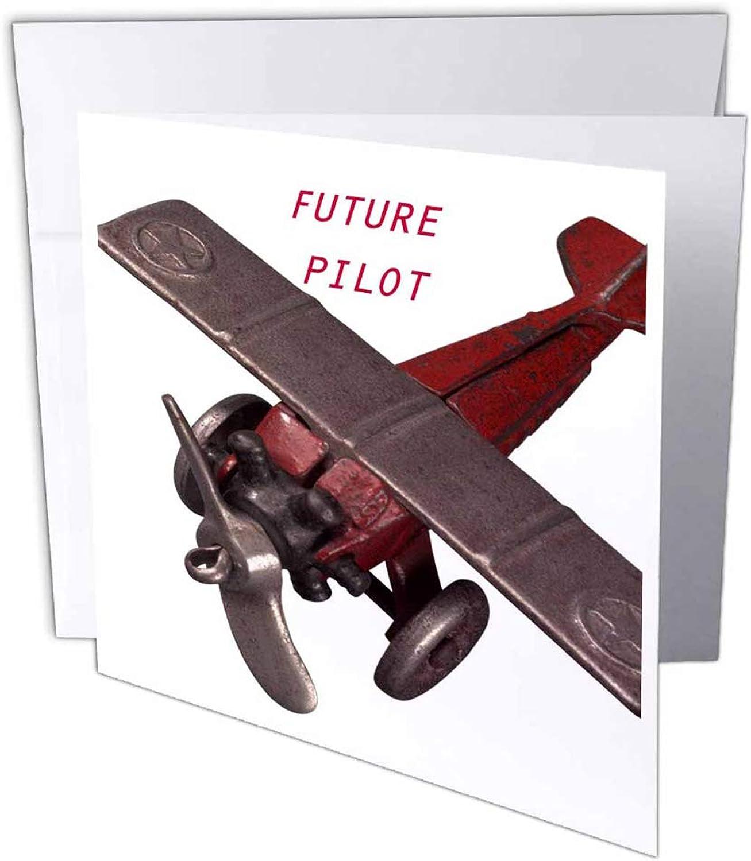 3dRosa gc_33157_1 Grußkarte Future Pilot , 15,2 x 15,2 cm, 6 Stück B07B43GC8J | Zuverlässiger Ruf
