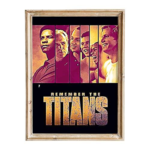FANART369 Póster de la película «Remember the Titans», tamaño A3, diseño de fanart original de pared, 29,7 x 42 cm, sin bordes