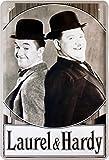 Laurel & Hardy Dick und Doof Blechschild 20 x 30 Retro