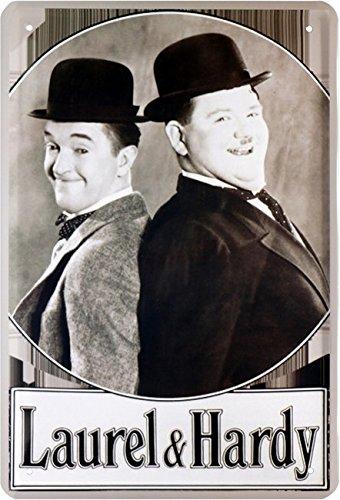 Laurel & Hardy Dick und Doof Blechschild 20 x 30 Retro Blech 1317