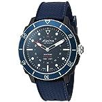 Alpina-Mens-AL-282LNN4V6-Horological-Smart-Watch-Analog-Display-Quartz-Blue-Watch