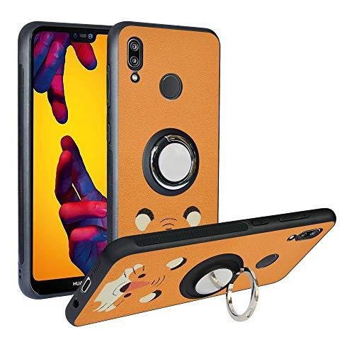 Funda para Huawei P20 Lite, Fashion Design [Antigolpes] con 360 Anillo iman Soporte, Resistente a los arañazos TPU Funda Protectora Case para Huawei P20 Lite Cover,Tiger