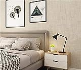 Vliestapete Imitation Leinen Textur Tapete Hell beige Modern Klassisch Opulent für Schlafzimmer Wohnzimmer oder Küche 0.53m x 9.5m Haus Dekoration Wandkunst Tapeten