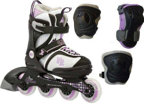 K2 Skates Mädchen Charm Pack JR Inline Skates, weiß, 35-40 EU