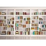 Homewelle - Librero de fondo blanco para biblioteca de 17 x 10 cm, fondo de fotografía para estudio y fotografía, decoración de fotos