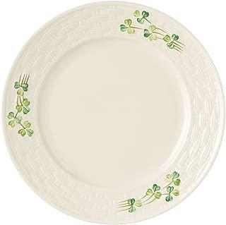 Belleek Group 0007 Shamrock Salad Plate, 8.8-Inch, White