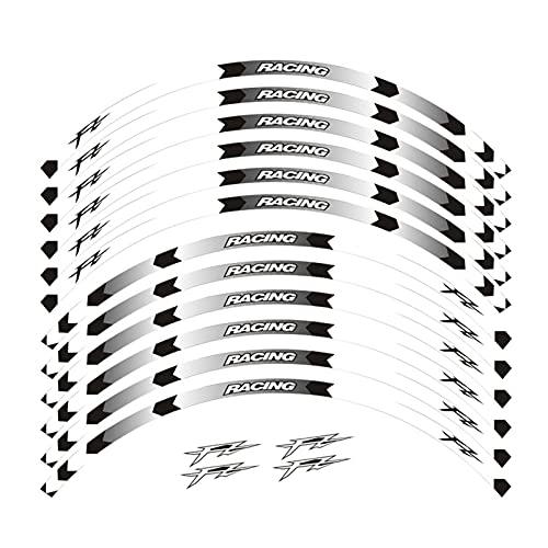 Hjunisshkm 17 Pulgadas de Rueda de la Rueda de la Rueda de la Rueda de la Rueda de la Rueda Compatible con Yamaha FZ1 FZ6 FZ-07 FZ8 FZ-09 FZ-10 FZS1000 Fazer ahdyj (Color : A White)