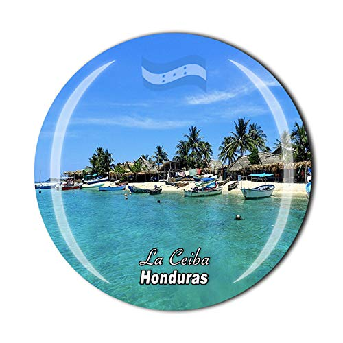 Imán para nevera La Ceiba Honduras, recuerdo de viaje, regalo para el...