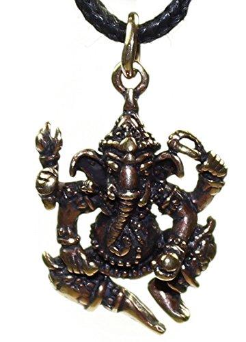 budawi® - Anhänger Ganesha aus Bronze, ca. 24 x 20 mm, Elefantenköpfiger indischer Gott als Kettenanhänger