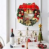 Sayla Weihnachten Dekoration Kreativ Weihnachten Türkranz Weihnachten Dekoration Weihnachtsgirlande Kränze 30-35CM - 4