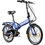 Zündapp Faltrad E-Bike 20 Zoll Z101 Klapprad Pedelec StVZO Elektrofaltrad 6 Gang (blau)