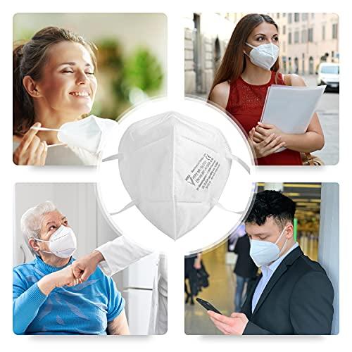 faciemF, 10 Stck. FFP2 Atemschutzmaske | Masken für Mund – und Nasenschutz | DEKRA (0158) geprüft |Made in Germany | sofort ab Lager lieferbar (10) - 3