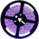 Lawary - Tira de luces LED, 5 m, juego de tiras de luz UV LED, 300 bombillas LED UV, flexible, para fotografía de galería de escenarios