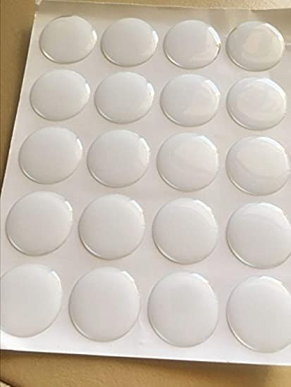 38 Self Adhesive 100 Pieces Clear Round Epoxy Domes Resin Stickers Cabochon 10mm