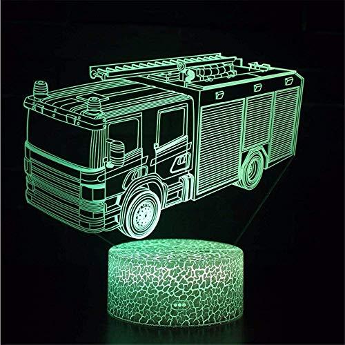 3D noche LightFire Departamento coche Playstation luz USB alimentado 16 colores intermitente interruptor táctil dormitorio decoración iluminación para niños