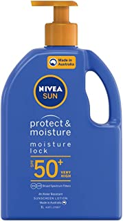 NIVEA SUN Protect & Moisturising 4 Hour Water Resistant Sunscreen Lotion. Made in Australia with Vitamin E & Panthenol, SP...