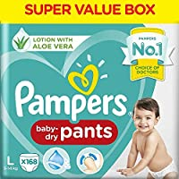 Pampers New Diaper Pants Super Value Box, Large (Pack of 168)