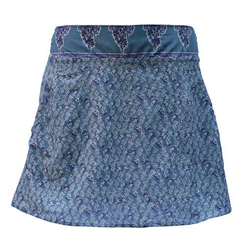 Indusweld, rok voor dames, met elastische band, 100% katoen, omstandrok met zakken