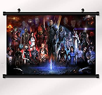 Mass effect 2 3 4 poster with wall scroll 22 inch x 16 inch