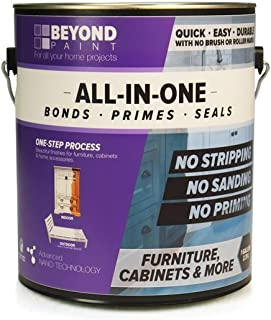 Beyond Paint Furniture, Cabinets and More All-in-one Refinishing Paint Gallon, No Stripping, Sanding or Priming Needed, Bright White